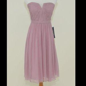 Lavender J Crew Chiffon Strapless Dress